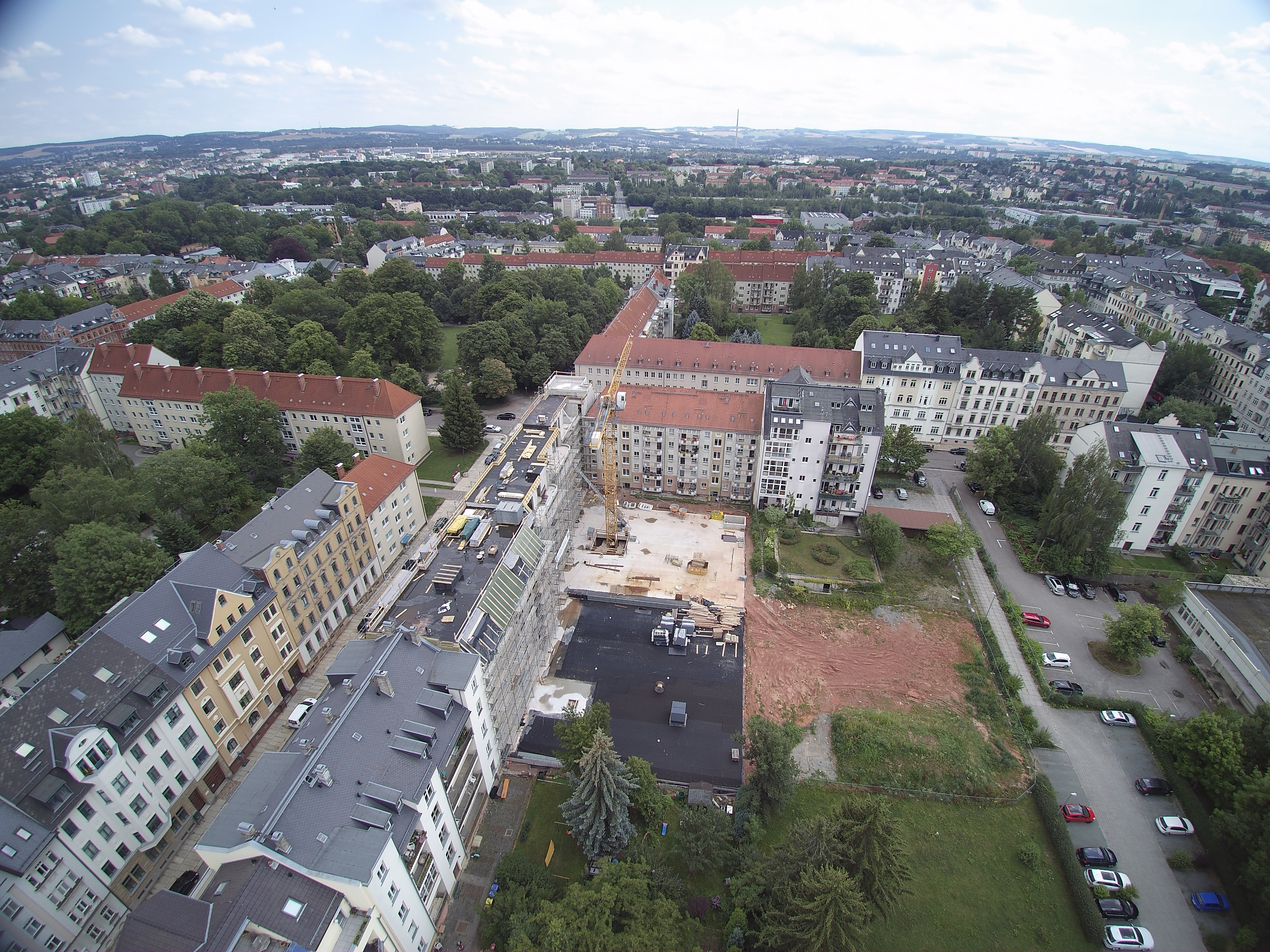 Luftaufnahmen aus der Stadt Chemnitz